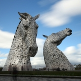 The Kelpies full view