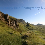 The Quiraing Bathed in Sunlight