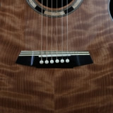 Acoustic Guitar Details Maple Blackwood Layered Bridge