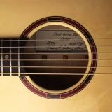 Acoustic Guitar Sound Hole Purple Heart And Indian Rosewood