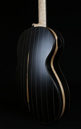 David Antony Reid, African Blackwood and 100 year old Curly Sequoia VaultBack (SOLD)